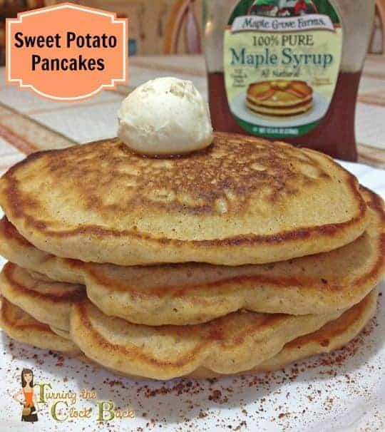 Sweet Potato Pancakes with Cinnamon Honey Butter