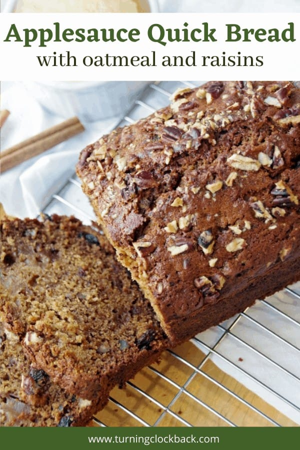 ApplesauceQuick Bread Recipe with oatmeal and raisins