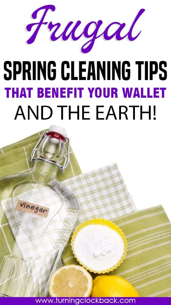 Need some cheap and sustainable ways to spring clean your home? Here are a few frugal spring cleaning tips that help you go green while you save money.