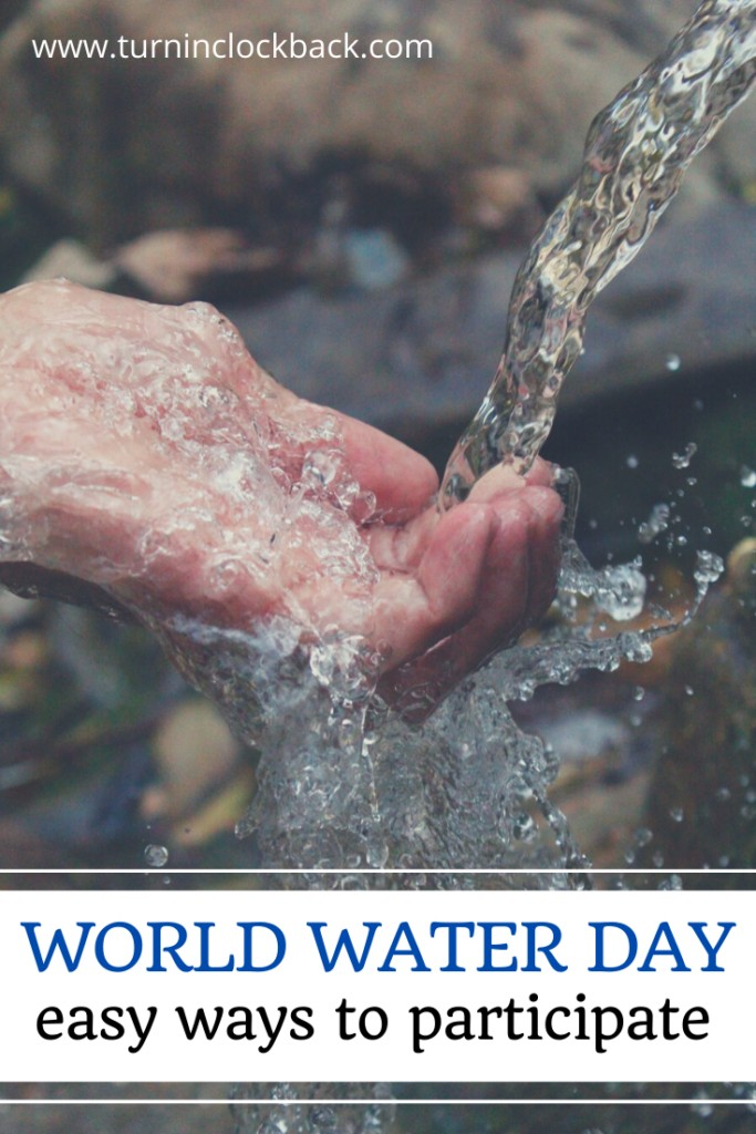 hand under running water in honor of world water day