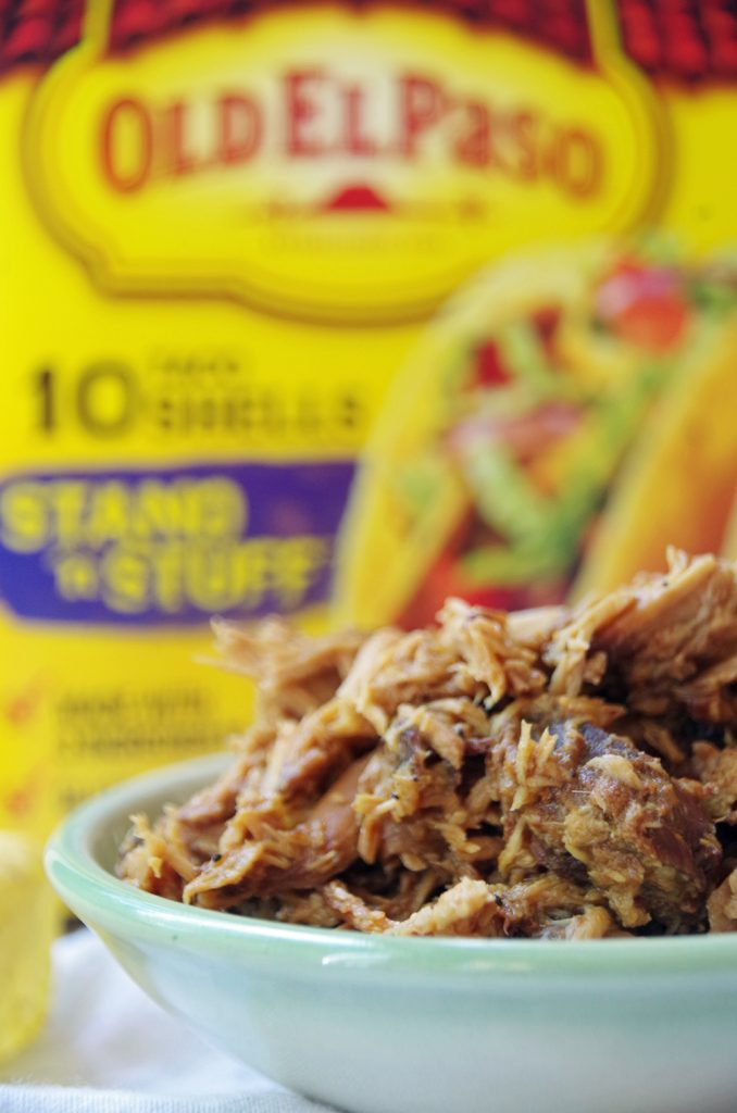BBQ pulled pork taco recipe with Asian pineapple coleslaw