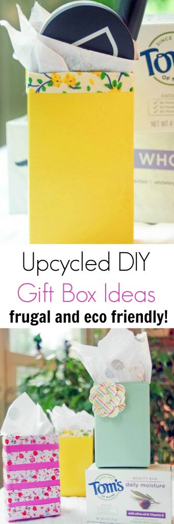 Looking for DIY gift box ideas? This is an easy upcycled craft project that will save you money and reduce your carbon footprint