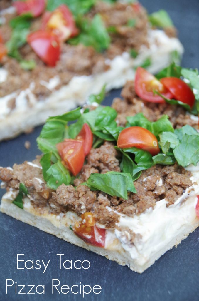 Looking for a quick weeknight meal that everyone will love? Try this easy taco pizza recipe!