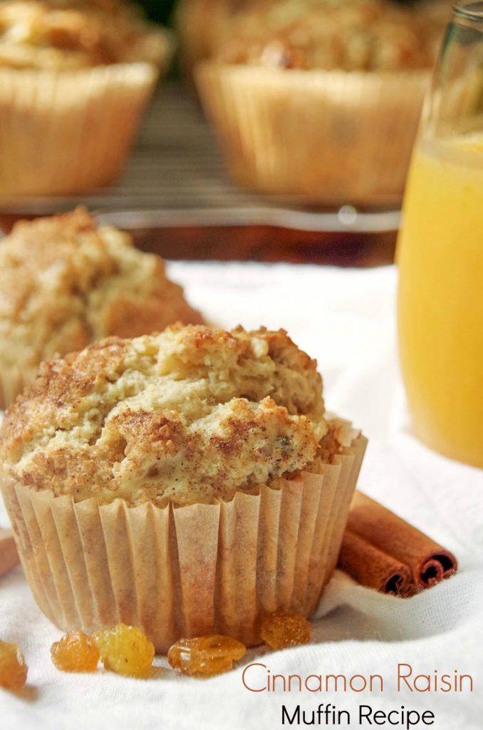 Easy Cinnamon Raisin Muffin Recipe