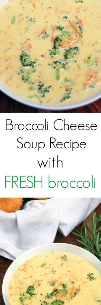 Easy Fresh Broccoli Cheese Soup Recipe