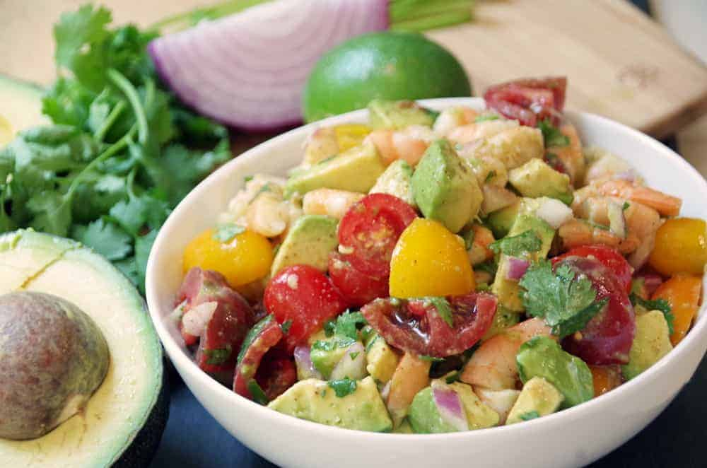 Shrimp Avocado Salad Recipe with Cajun Lime Dressing