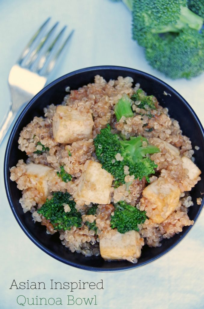 Asian Quinoa Recipe with Broccoli and Tofu
