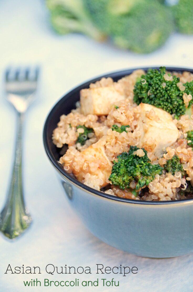 Asian Quinoa Recipe with Broccoli and Tofu