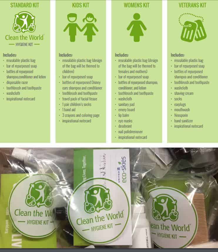 clean the world graphic about recycling soap bar pieces from hotels