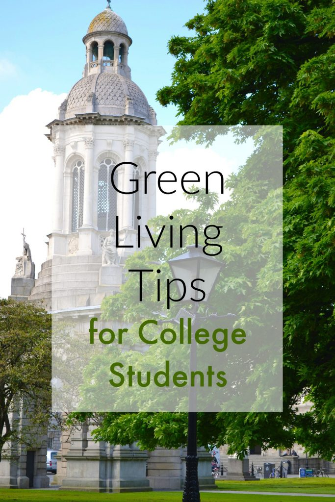 Have a child leaving for college soon? Check out these easy green living tips for college students to help reduce their carbon footprint!