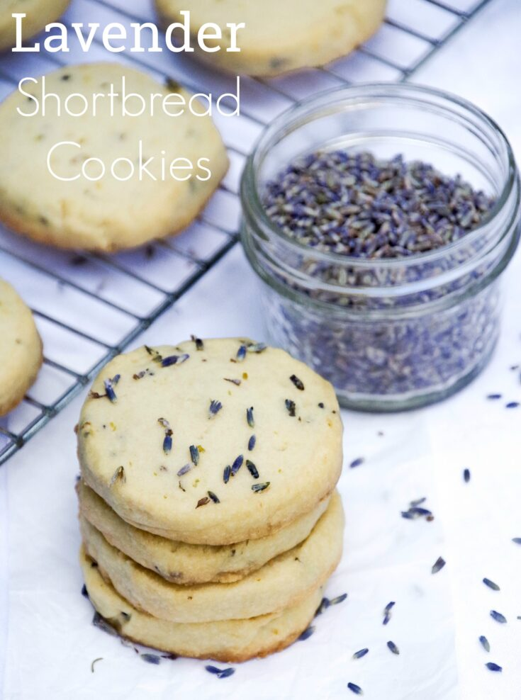 Love shortbread cookies? This simple yet elegant lavender shortbread cookie recipe is buttery and flaky with a light hint of lemon and lavender.