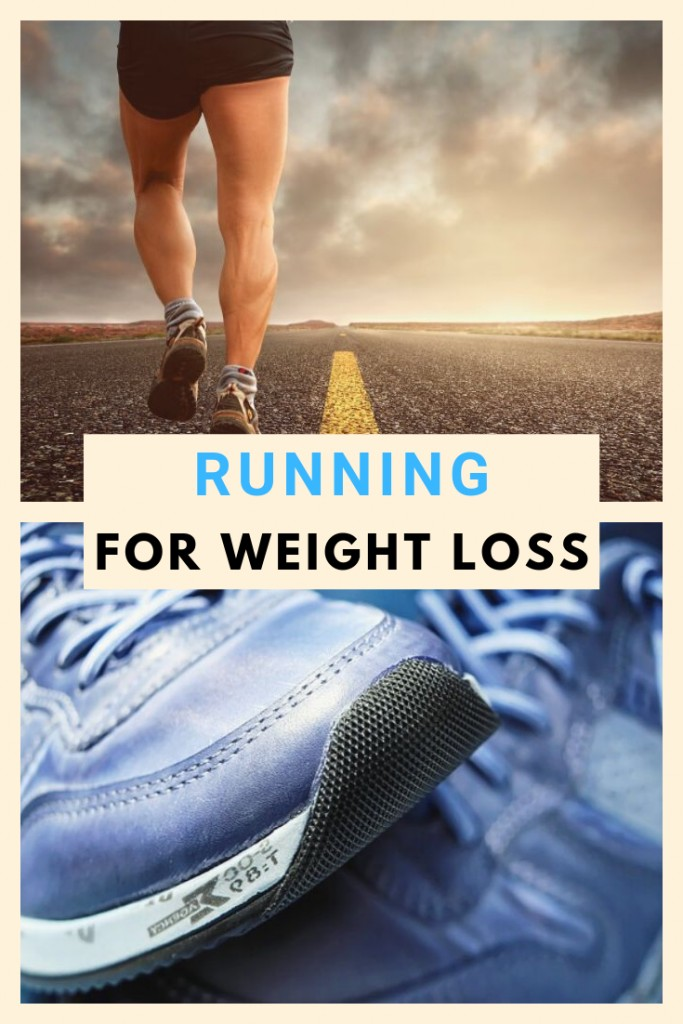 Person Running and Running Sneakers for Tips on Running for Weight Loss