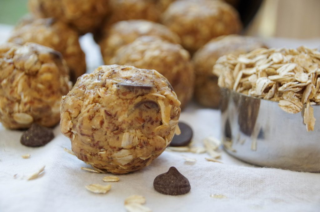 This peanut butter oatmeal energy bites recipe takes only 10 minutes to make and is loaded with fiber and protein