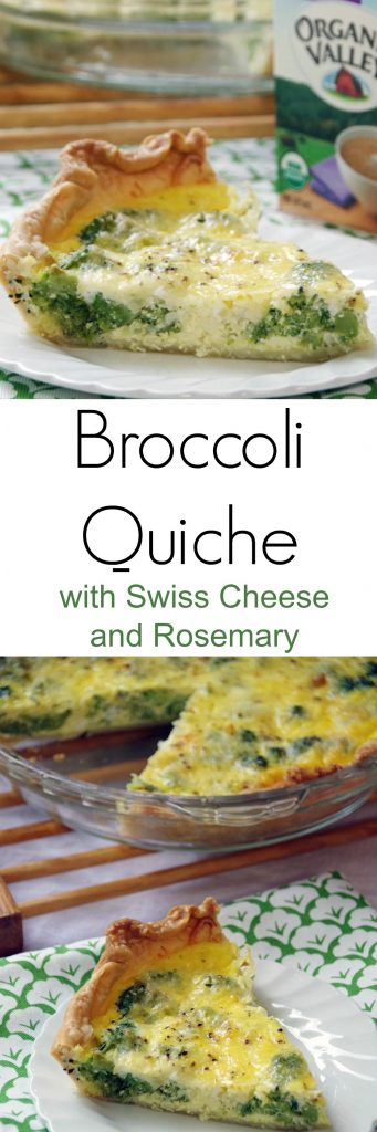 Easy Broccoli Quiche Recipe with Swiss Cheese and Rosemary