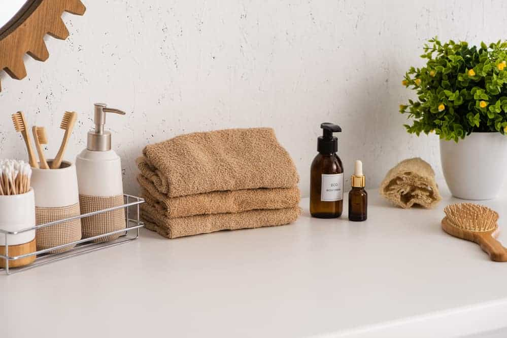 sustainable bathroom products including bamboo towels