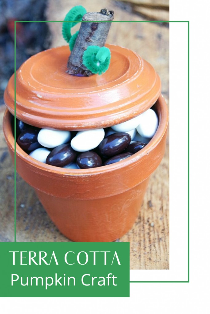 Easy Terra Cotta Pumpkin Craft