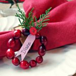 Need Dinner Place Setting Ideas? Make Cranberry Wreath DIY Place Cards!