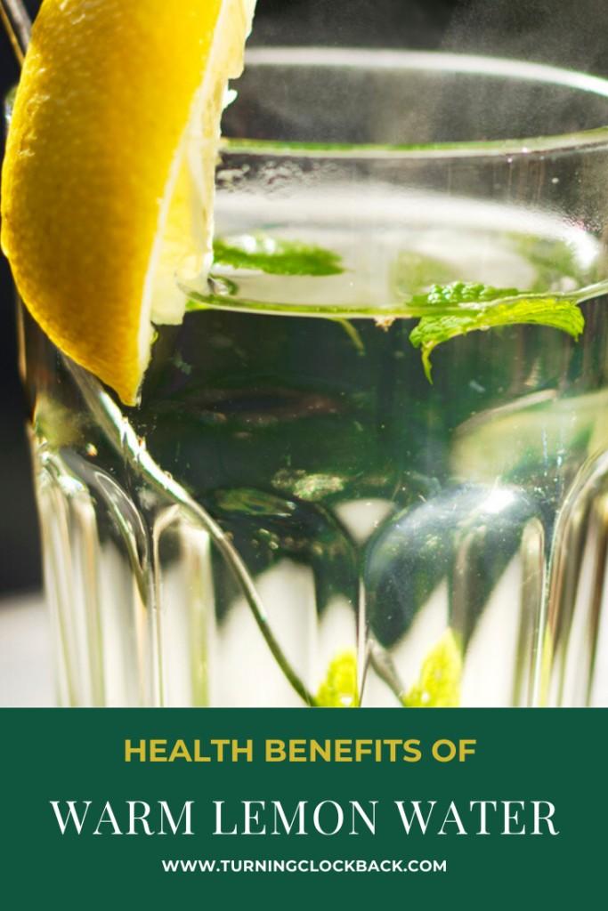 Glass of warm lemon water