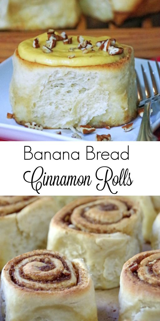Homemade cinnamon rolls are well worth the time and effort! Try these banana bread cinnamon rolls for a weekend breakfast treat. Gooey pumpkin cream cheese icing over warm banana bread cinnamon rolls!