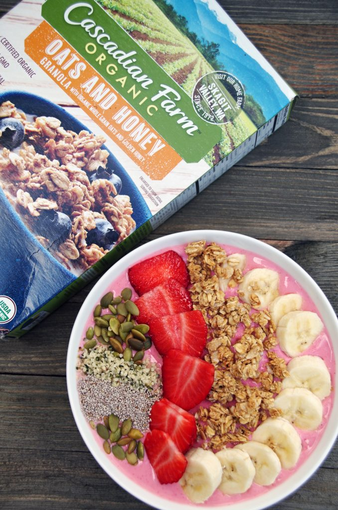 Tips for Making Smarter Snack Choices and a Strawberry Smoothie Bowl Recipe