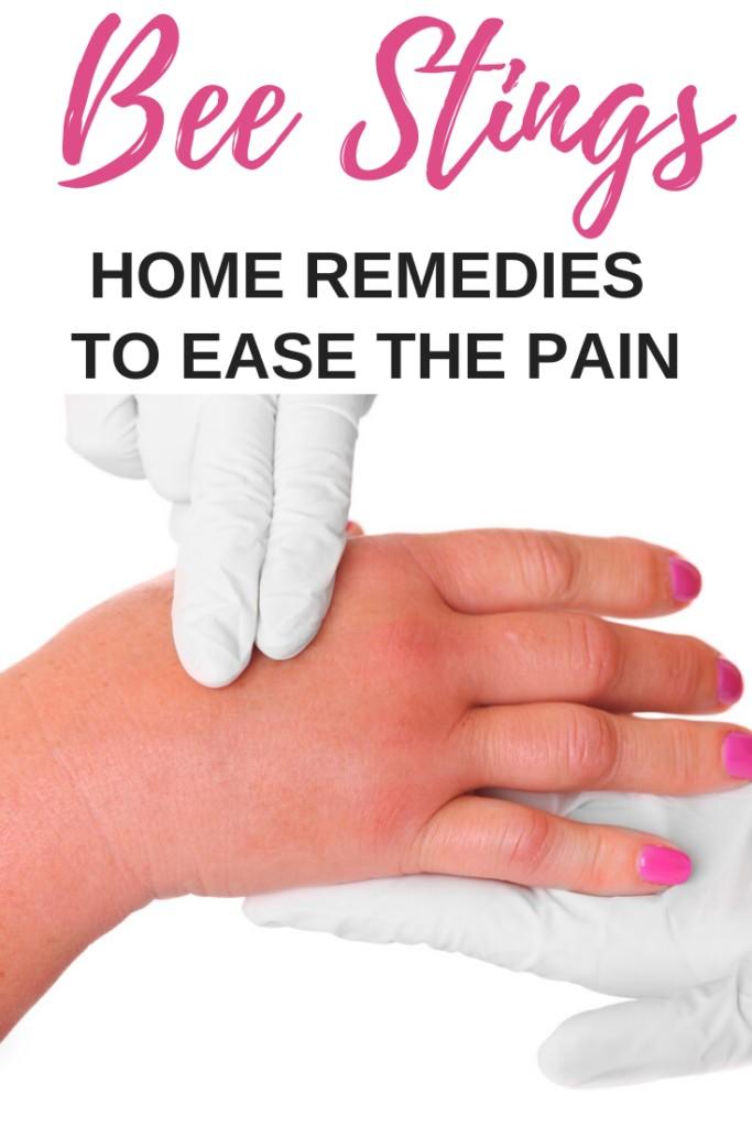 swollen hand on towel
