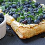 Fresh Blueberry Tart Recipe with Basil and Honey