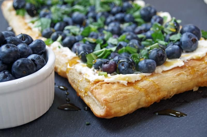 Blueberry Tart with Basil