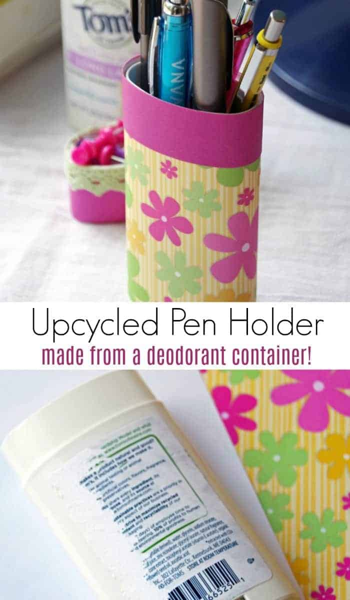 Check out this easy #upcycled deodorant container!  This is an easy #greenlving project to reduce trash output and save money! If you like #recycled #crafts, this one is simple