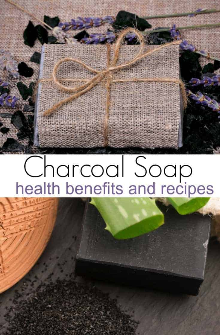 Activated charcoal soap is a great way to detoxify the skin and clear up your complexion.  Here are a few other reasons to buy charcoal soap, as well as DIY soap recipes to make it yourself.