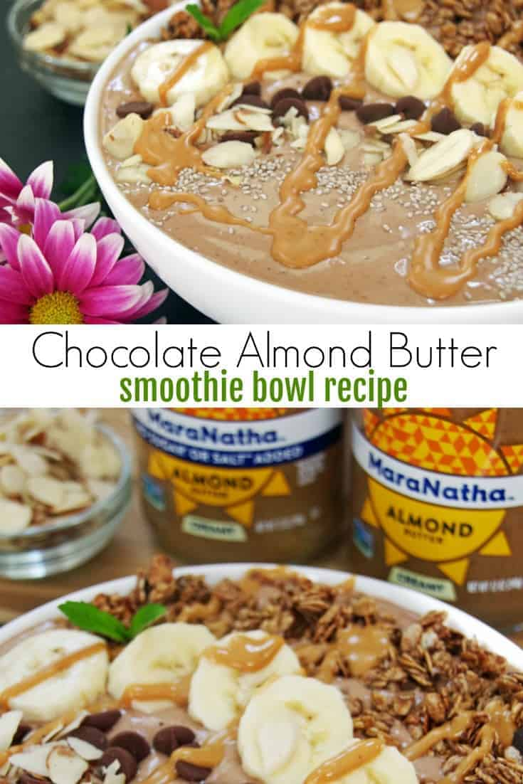 Looking for healthy nut recipes? This chocolate almond butter smoothie bowl recipe is a filling and tasty way to start your day. If you want an easy recipe for nut lovers, this one is delicious!