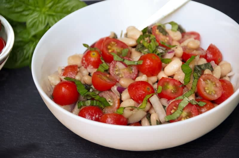 Cherry Tomato Salad with White Beans