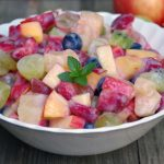 Healthy Fruit Salad Recipe with Easy Yogurt Glaze