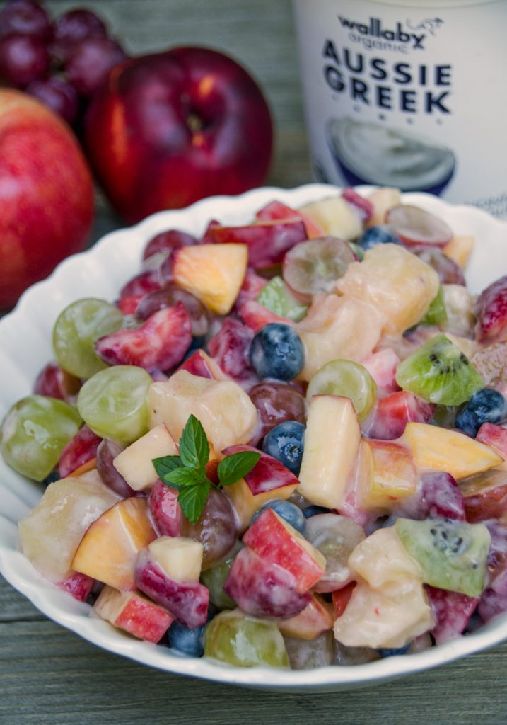 Fruit Salad with Honey Yogurt Glaze
