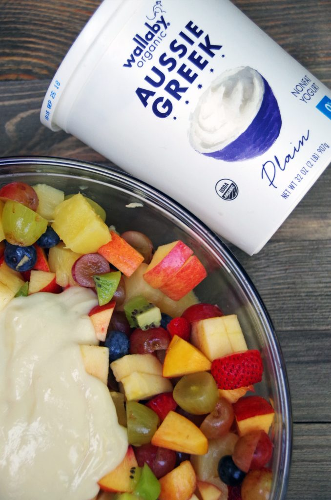Fruit Salad with Easy Yogurt Glaze