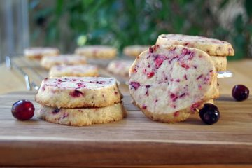 Cranberry Shortbread Cookie Recipe with Orange Zest
