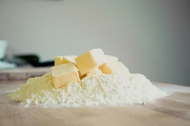 butter and flour for baking