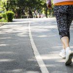 older woman walking