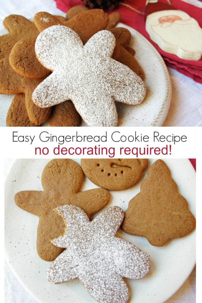 Easy Gingerbread Cookie Recipe with No Decorating Required