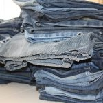 pile of old jeans