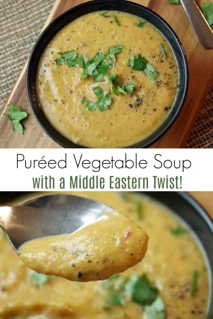 Middle Eastern Inspired Pureed Vegetable Soup Recipe