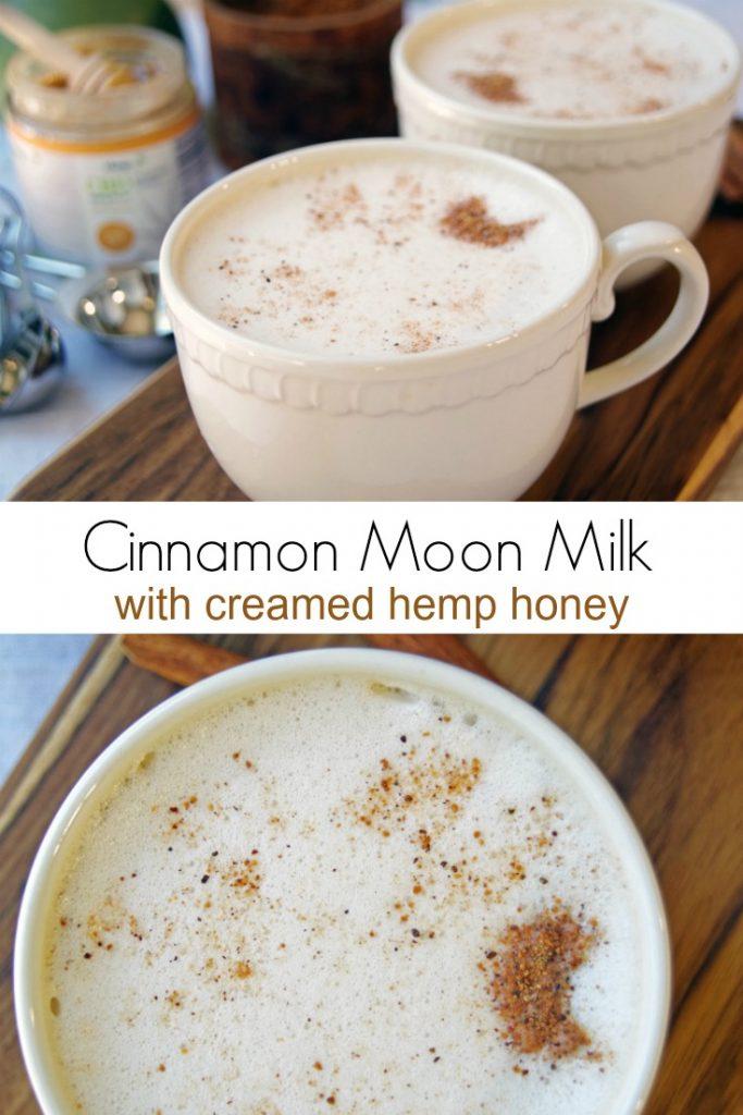 Healthy Cinnamon Moon Milk with Creamed Hemp Honey