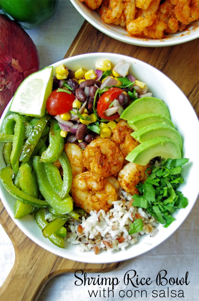 Blackened Shrimp Bowl with Corn Salsa