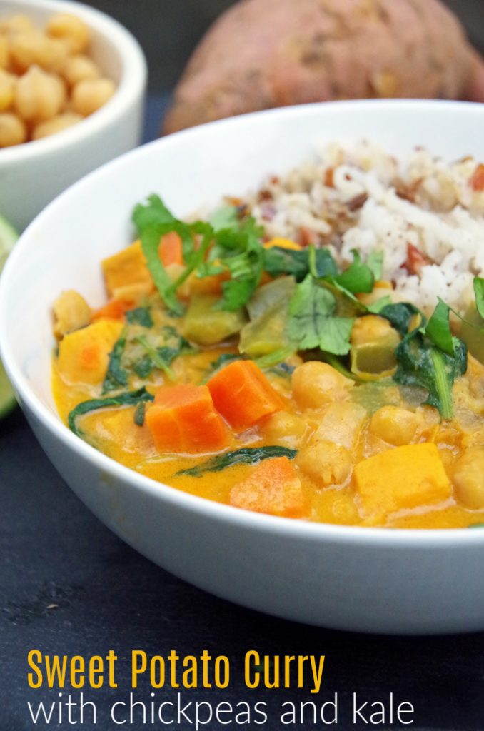Homemade Curry with Sweet Potatoes and Chickpeas