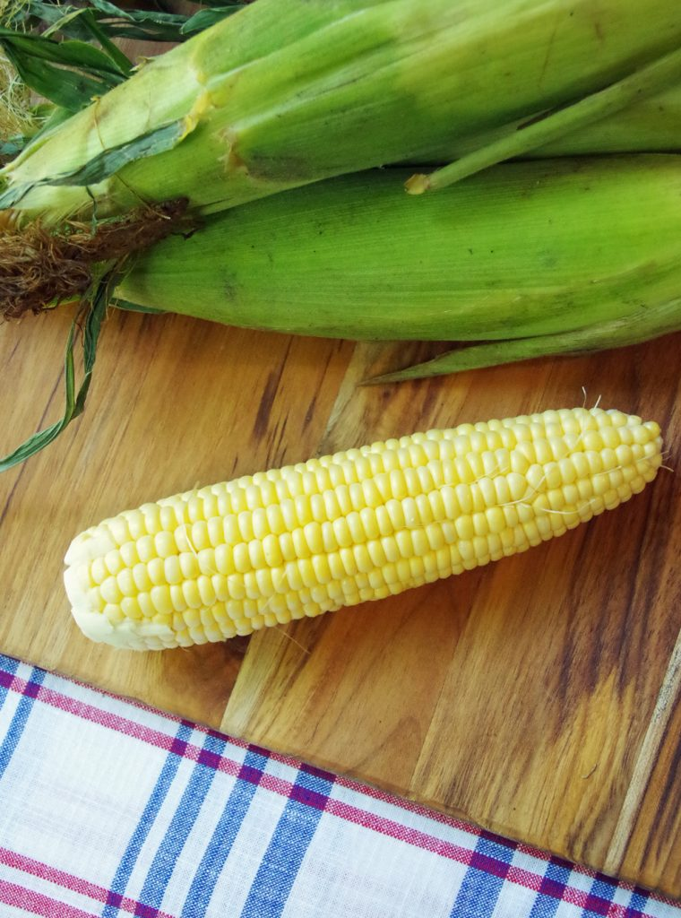 Florida Corn on Cutting Board and Summer food tips