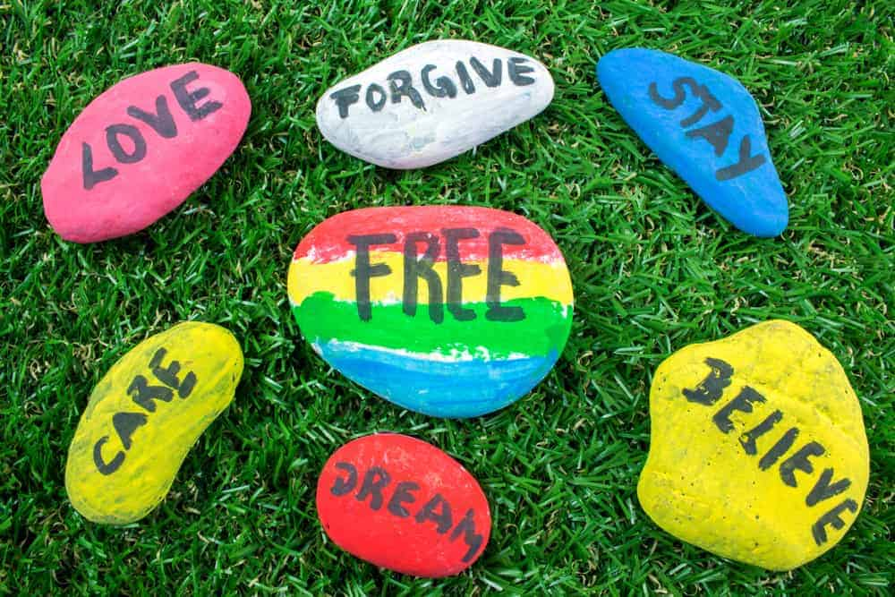painted rocks with inspirational messages