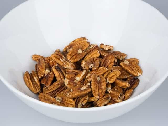 bowl of dried pecans
