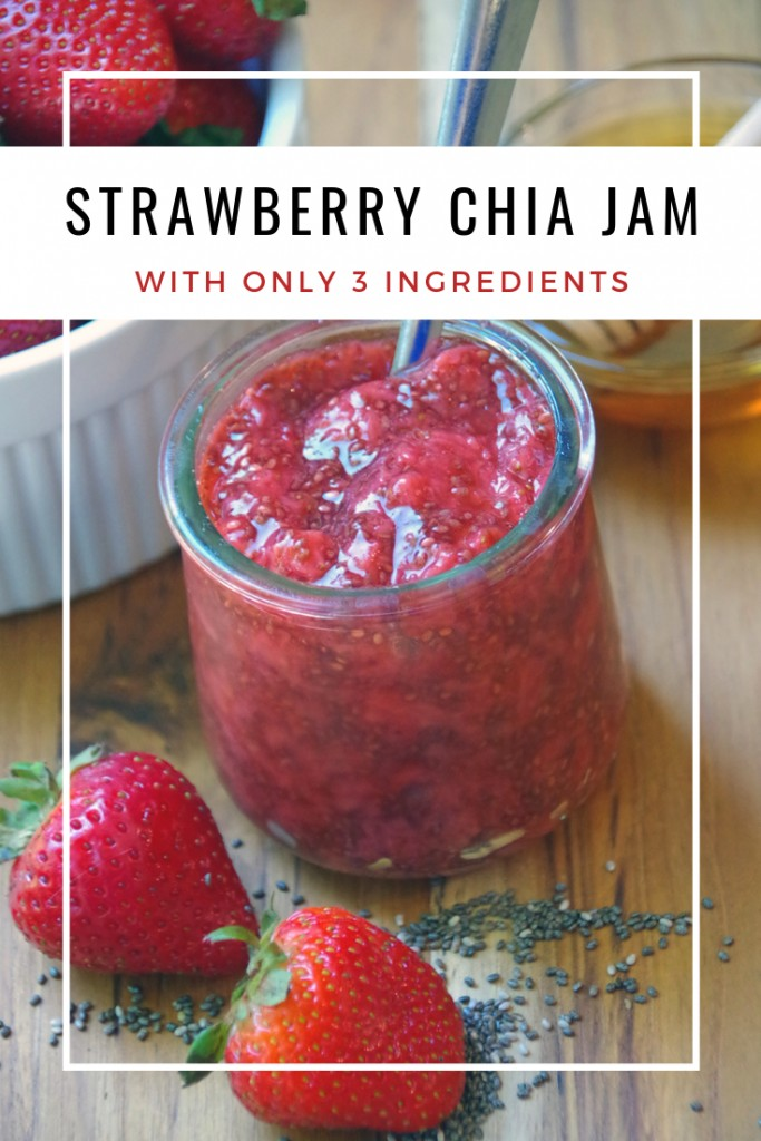 Strawberry jam with chia seeds and honey