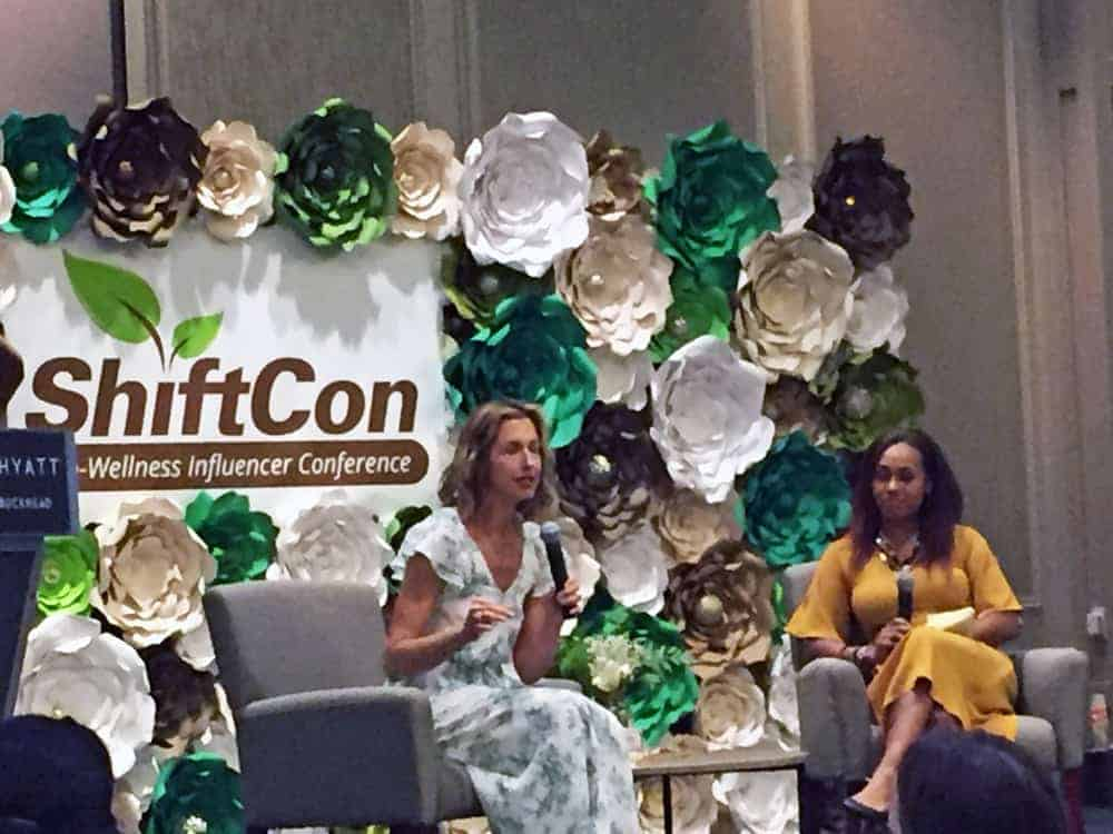 Alysia Reiner speaking at ShiftCon Atlanta 2019 wellness conference