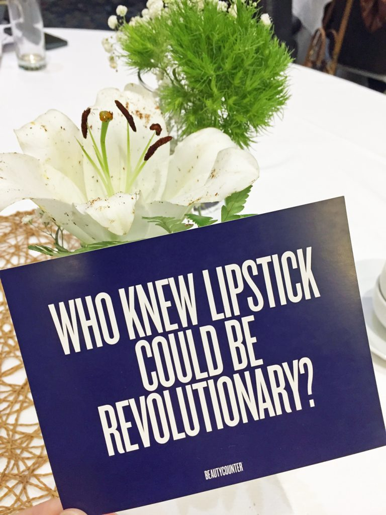Image of table from Shiftcon EWG presentaion that says who knew lipstick could be revolutionary
