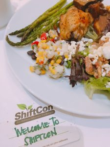 plate of sustainable food from the shiftcon conference 2019